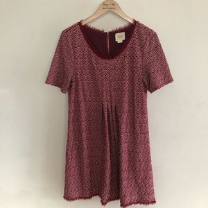ANTHROPOLOGIE Maeve red dress size L